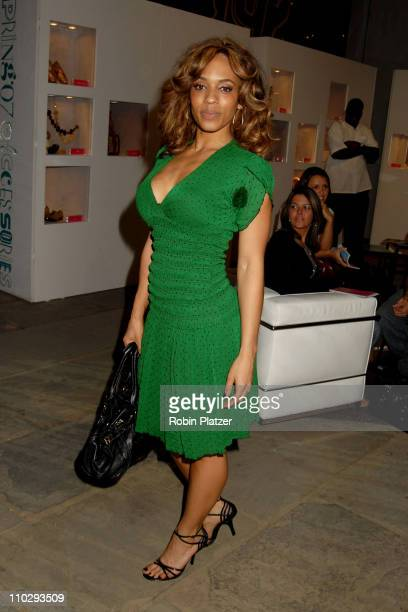 Melyssa Ford during Olympus Fashion Week Spring 2007 Baby Phat Front Row and Backstage at The Tent Bryant Park in New York City New York United States