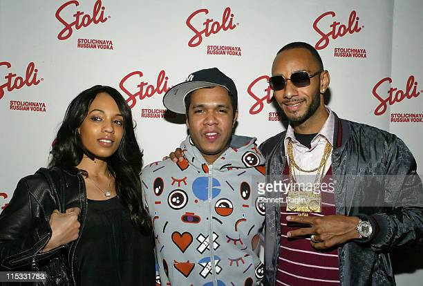 Melyssa Ford Johnny Nunez and Swizz Beatz during Johnny Nunez 10 Years of Entertainment Photography Sponsored by Stoli Vodka at Home in New York New...