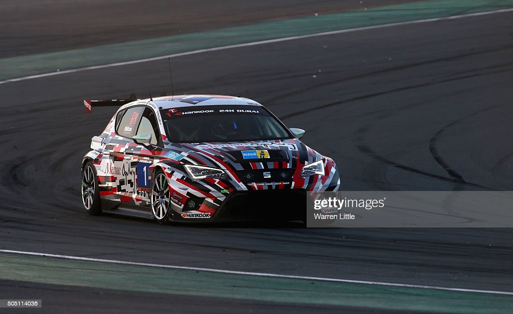 #1 Memac Ogilvy Racing, Seat Leon Cup Racer in action during the Hankook 24 Hours Dubai Race in the International Endurance Series at Dubai Autodrome on January 15, 2015 in Dubai, United Arab Emirates.