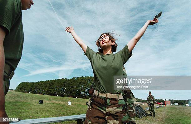 me/marines Jahi Chikwendiu/TWP Kristy Jensen is scanned for ammunition as she prepares to leave the rifle range at Marine boot camp on Parris Island...