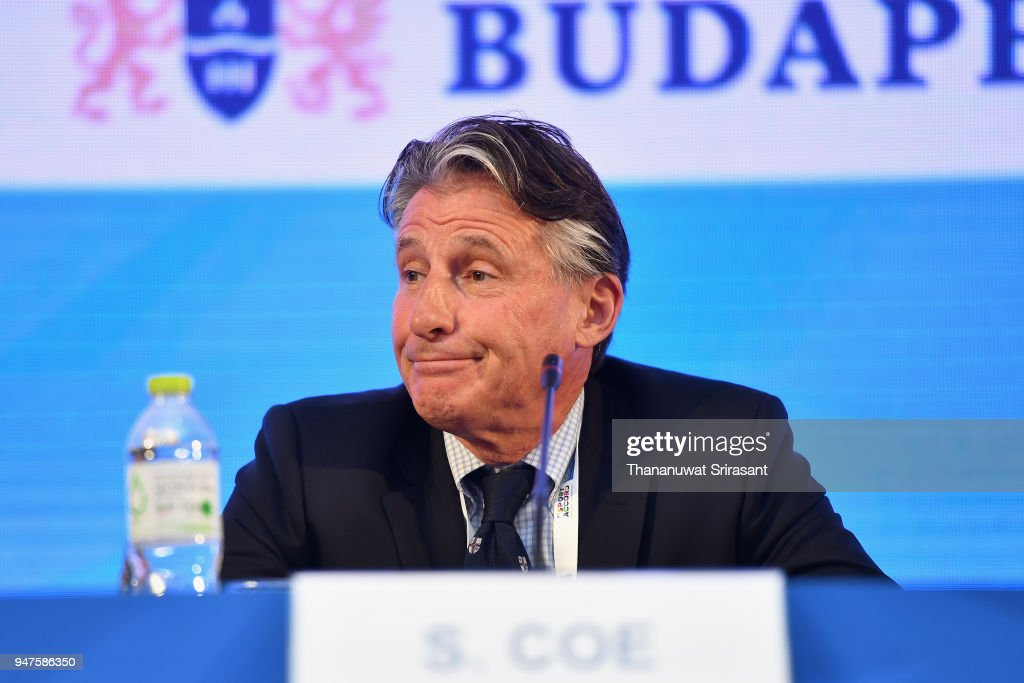 ASOIF (Association of Summer Olympic International Federations) member and IAAF (International Association of Athletics Federations) President Sebastian Coe attends the ASOIF General Assembly on day three of the SportAccord at Centara Grand & Bangkok Convention Centre on April 17, 2018 in Bangkok, Thailand.
