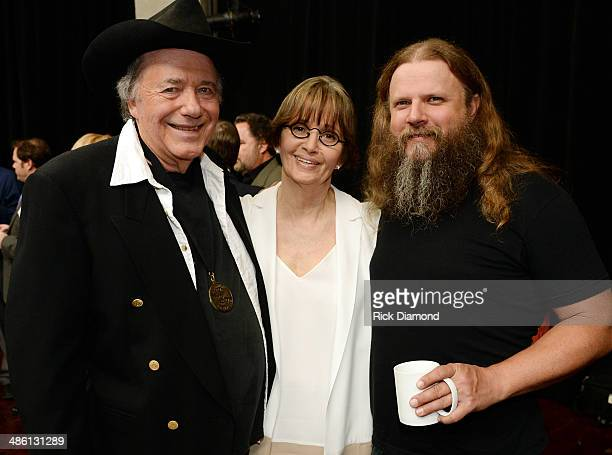 CMHOF member Bobby Bare Suzi Cochran and Singer/Songwriter Jamey Johnson attend the 2014 Country Music Hall Of Fame Inductees Announcement at the...