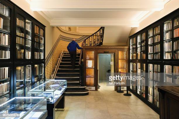 A member climbs the stairs from the foyer as he enters the Leeds Library on January 9 2018 in Leeds England This year sees the 250th anniversary of...