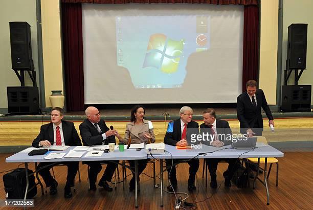 Member for Deakin Mike Symon, Senator Gavin Marshall, Member for Canberra Gai Brodtmann, Prime Minister Kevin Rudd, Deputy Prime Minister Anthony...