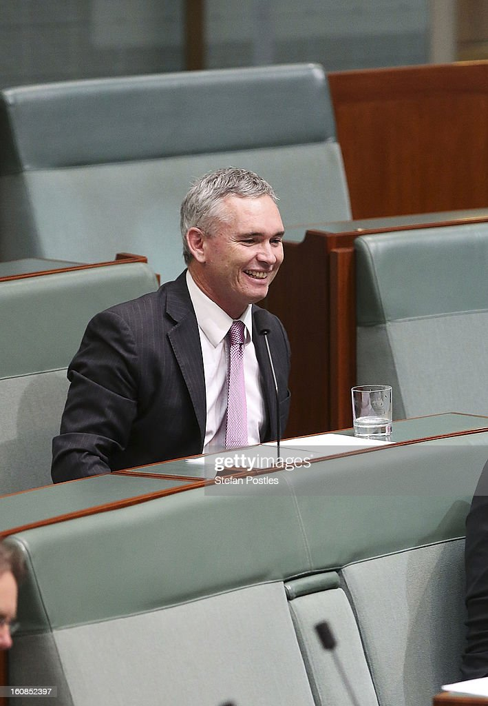 Member for Dobell Craig Thomson during House of Representatives question time at Parliament House on February 7, 2013 in Canberra, Australia. Parliament resumes for the first sitting of 2013 this week, just days after Prime Minister Gillard, announced a federal election date of September 14, 2013.