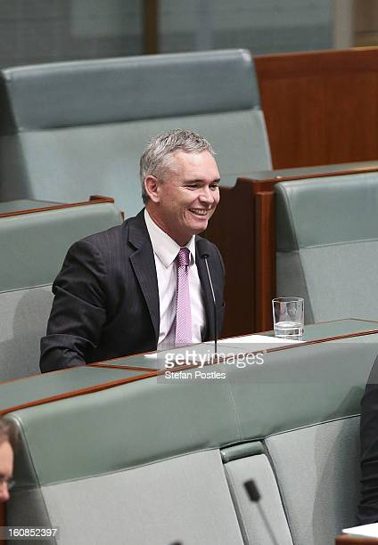 Member for Dobell Craig Thomson during House of Representatives question time at Parliament House on February 7 2013 in Canberra Australia Parliament...