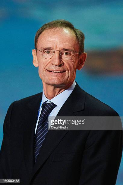 Member JeanClaude Killy attends at performance of Sochi 2014 One Year To Go on Feb7 2013 in 'Bolshoi' Ice Dome in Sochi Russia