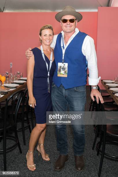INXS member Jon Farris and his wife Kerry Farris attend Magic Millions Polo on January 7 2018 in Gold Coast Australia