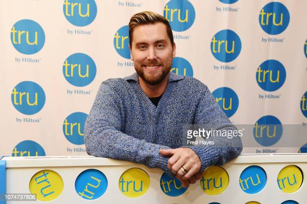 *NSYNC member Lance Bass hosts the Tru Connections event celebrating Tru by Hilton's rapid growth to 50 open hotels with a giant CONNECT 4 tournament...