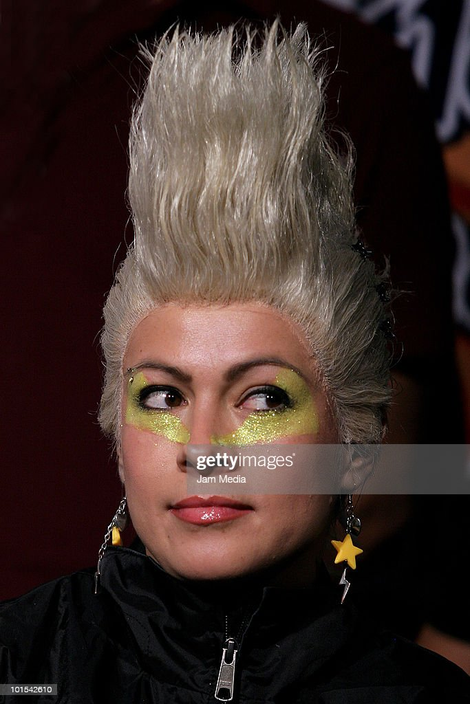 A member of Abominables attends a press conference to announce the concert Rock Unites Us at Salon Jose Cuervo on June 1, 2010 in Mexico City, Mexico.