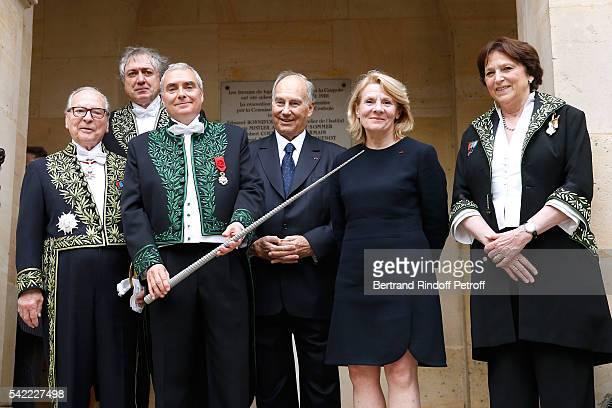 Member of 'Academie Francaise' Gabriel de Broglie President of the 'Academie des BeauxArts' Erik Desmazieres architect Dominique Perrault Prince...