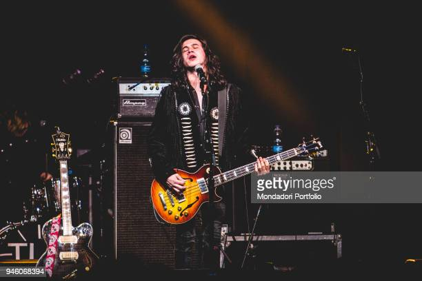 Member of american band The Last Bandoleros performs at Fabrique, Milan , march 23, 2017