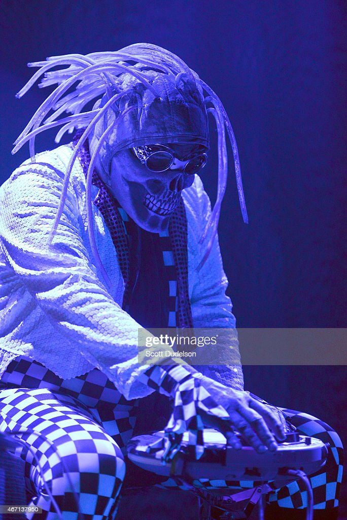 A member of avant garde rock band The Residents performs ...