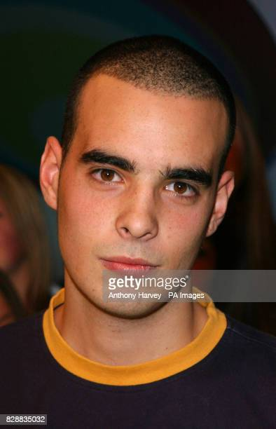 A member of Blazin Squad during their appearance on MTV's TRL UK at the MTV Studios in Camden north London