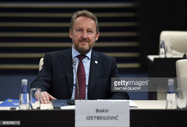 Member of Bosnia and Herzegovina's tripartite Presidency Bakir Izetbegovic attends the EUWestern Balkans Summit in Sofia on May 17 2018 European...