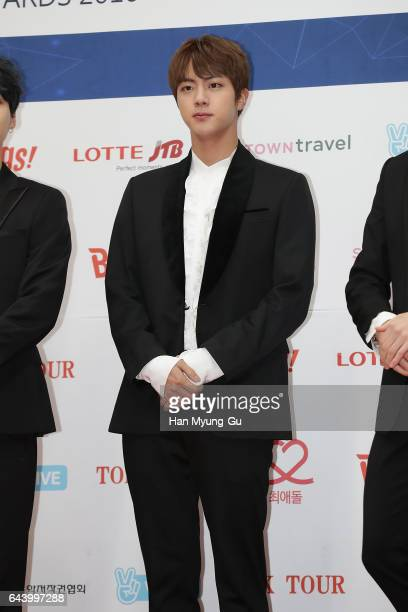 A member of boy band BTS attends the 6th Gaon Chart KPop Awards on February 22 2017 in Seoul South Korea
