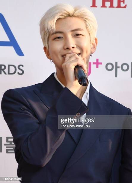 Member of BTS attends 'The Fact Music Awards' held at Namdong Gymnasium in southeastern Incheon on April 24, 2019 in Incheon, South Korea.