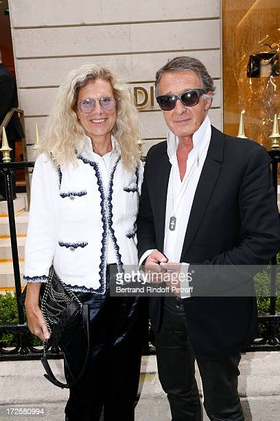 Member of Chanel Eric Pfrunder and his wife attend the Avenue Montaigne Fendi new shop opening party which will be followeed by 'The Glory Of Water'...