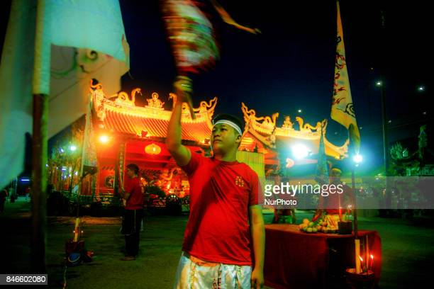 Member of chinese perform a specials prayer during the hungry ghost festivals in Teluk Pulai Klang Malaysia on September 12 2017 Photo by Samsul Said