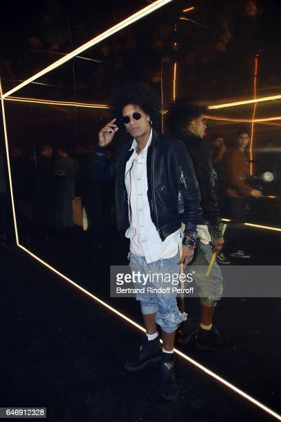 A member of dance duo 'Les Twins' attends Yves Saint Laurent Beauty Party as part of the Paris Fashion Week Womenswear Fall/Winter 2017/2018 at Carre...