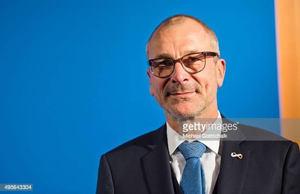Member of German Parliament Bundestag Volker Beck attends award ceremony of Leo Baeck Prize on November 04 2015 in Berlin Germany