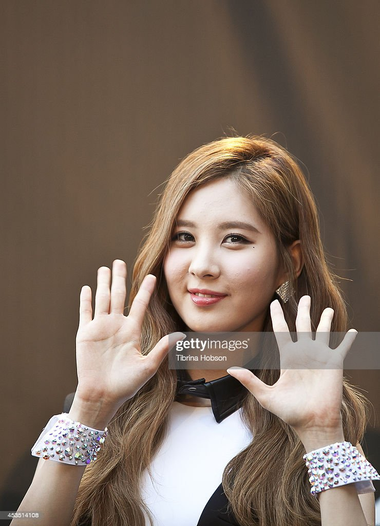 A member of Girls Generation attends KCON 2014 at the Los Angeles Memorial Sports Arena on August 10, 2014 in Los Angeles, California.