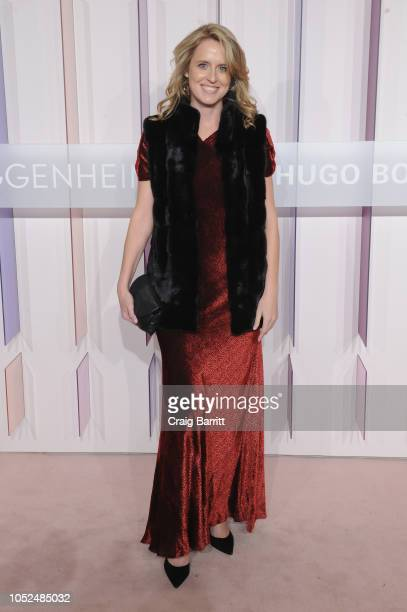 Member of Guggenheim YCC Anne Huntington attends the Hugo Boss Prize 2018 Artists Dinner at the Guggenheim Museum on October 18 2018 in New York City
