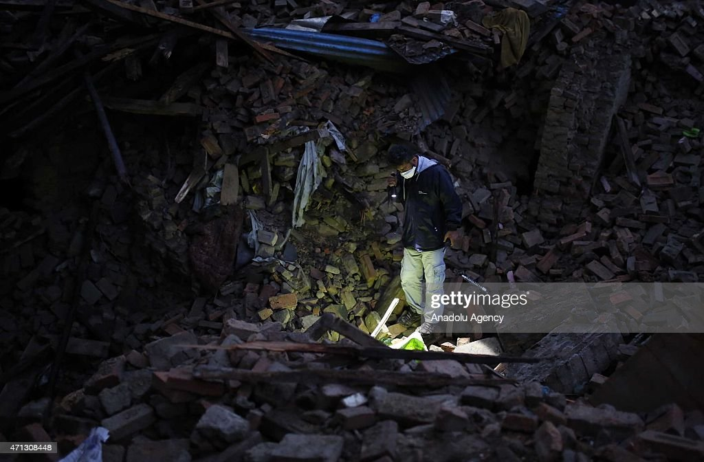 Powerful earthquake hits Nepal : News Photo