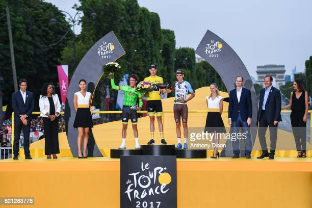 member of IOC Tony Estanguet Laura Flessel French Sport Minister Rigoberto Uran of Cannondale Christopher Froome of Team Sky Romain Bardet of AG2R...