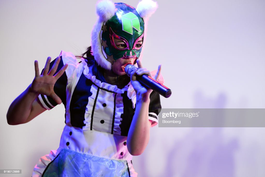 Japan's Cryptocurrency Girls Band Holds Concert For Coincheck Owners : News Photo
