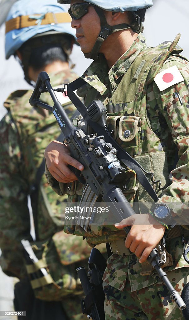 Japanese peacekeepers ready to perform rescue mission in S. Sudan : Nachrichtenfoto
