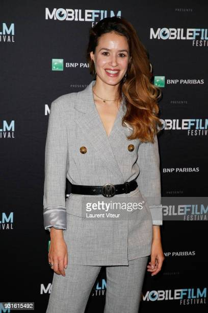Member of Jury Actress Alice David attends Mobile Film Festival 2018 at Mk2 Bibliotheque on March 13 2018 in Paris France