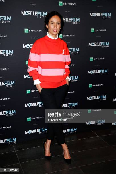 Member of Jury Actress Amelle Chahbi attends Mobile Film Festival 2018 at Mk2 Bibliotheque on March 13 2018 in Paris France