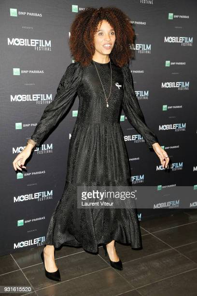 Member of Jury Actress Stefie Celma attends Mobile Film Festival 2018 at Mk2 Bibliotheque on March 13 2018 in Paris France
