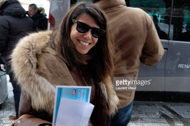 Member of Jury of 21st L'Alpe D'Huez Comedy Film Festival Reem Kherici arrives at l'Alpe D'Huez on January 16 2018 in Alpe d'Huez France