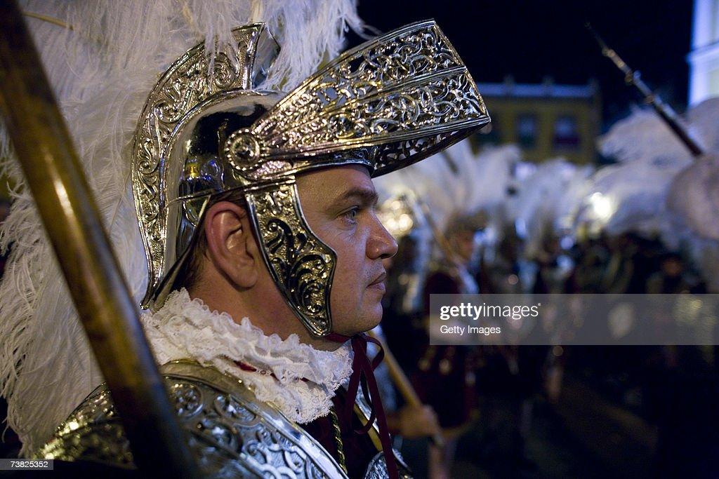 Seville Brotherhood Celebrate The Holy Week : News Photo
