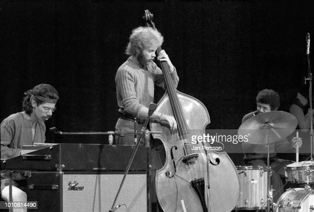 Member of Miles Davis Quintet, American jazz pianist Chick Corea, British jazz bassist Dave Holland and American jazz drummer Jack de Johnette,...