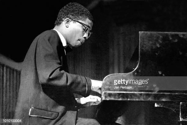 Member of Miles Davis Quintet American jazz pianist Herbie Hancock performing in Copenhagen Denmark October 4 1964