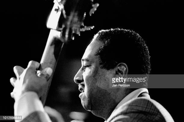 Member of Milt Jackson Quartet American jazz bassist Ray Brown performing at Jazzhus Montmartre Copenhagen Denmark 1981