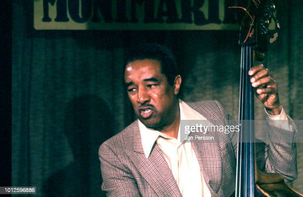Member of Milt Jackson Quartet American jazz bassist Ray Brown performing at Jazzhus Montmartre Copenhagen Denmark 1981 At left Milt Jackson