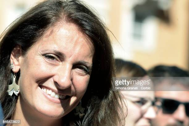 Member of Moviment five Stars Carla Ruocco during the demonstration in Pantheon Square to solicit approval of a whistleblower law against corruption...