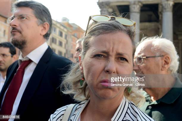Member of Moviment five Stars Giulia Grillo during the demonstration in Pantheon Square to solicit approval of a whistleblower law against corruption...