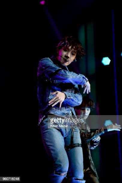 Member of musical group BTS performs onstage at the 2018 Billboard Music Awards at MGM Grand Garden Arena on May 20 2018 in Las Vegas Nevada