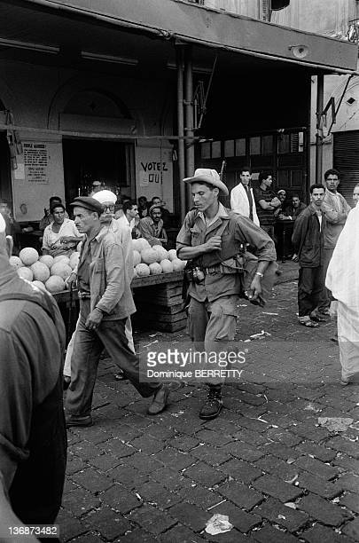 A member Of National Liberation Army in a street of Algiers two months after the Independence on September 5 1962 in Algiers Algeria