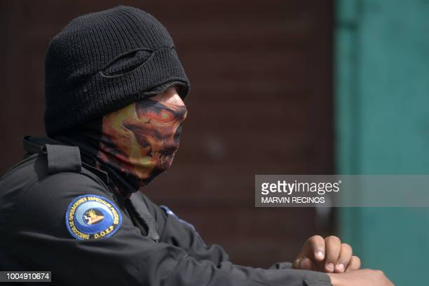 A member of Nicaragua's Special Forces patrols a street after clashes with antigovernment protesters at the Sandino neighborhood in Jinotega Nicaragu...