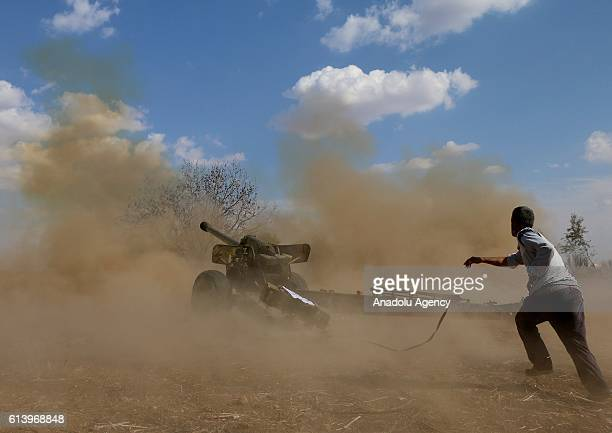 A member of opposition groups attacks to Assad Regime Forces at Kawkab district of Hama Syria on October 11 2016