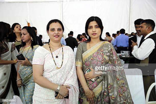 Member of Parliament and wife of uttar pradesh's Chief Minister Akhilesh yadav mrs Dimple Yadav and Mrs Preeti Rajshekhar wife of IAS RajShekhar...