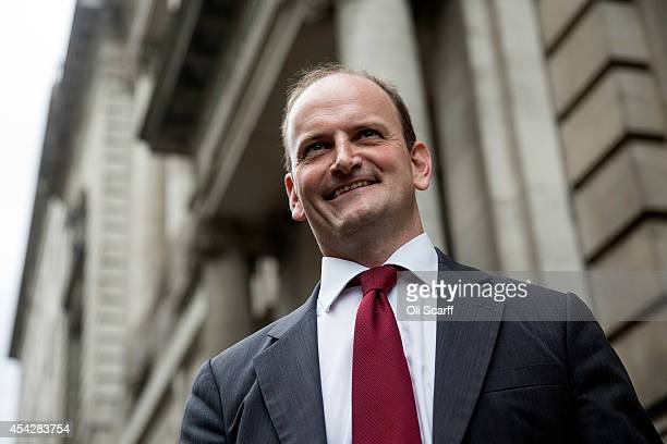 Member of Parliament Douglas Carswell is interviewed in Westminster after announcing he is switching from the Conservative party to UKIP on August 28...
