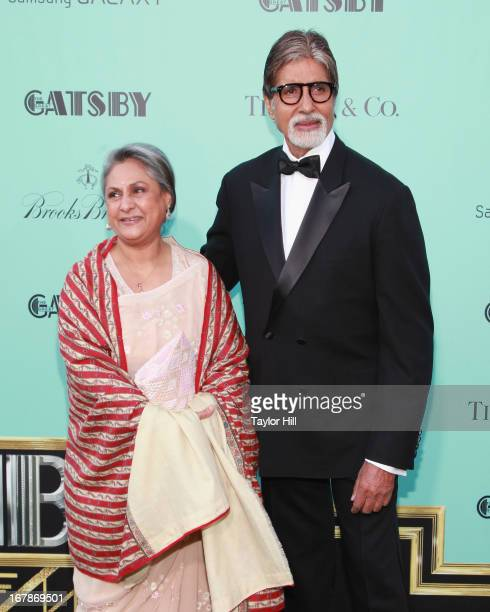 Member of Parliament Jaya Bhaduri Bachchan and actor Amitabh Harivansh Bachchan attend The Great Gatsby world premiere at Alice Tully Hall at Lincoln...