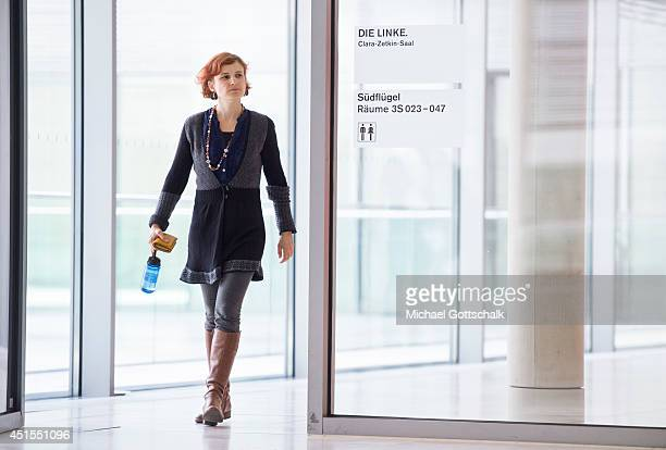 Member of Parliament Katja Kipping attends a working session of Linkefaction in German Bundestag on July 01 2014 in Berlin Germany